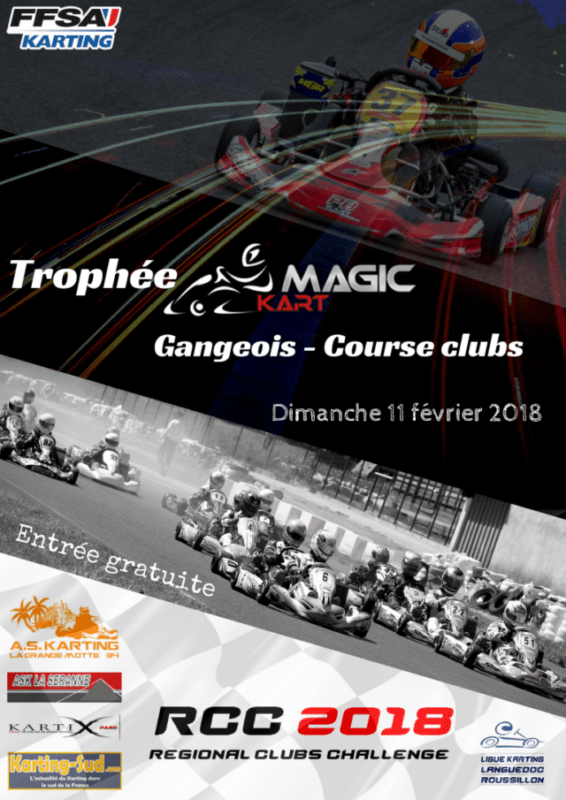 Affiche Trophée Gangeois Magic Kart 2018