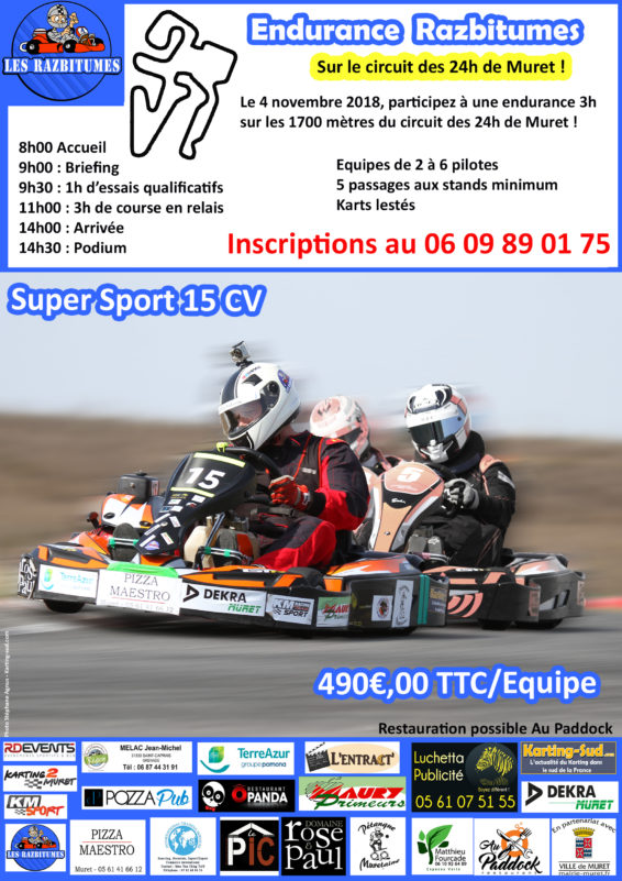 endurance razbitumes sur le circuit des 24h de muret. Black Bedroom Furniture Sets. Home Design Ideas