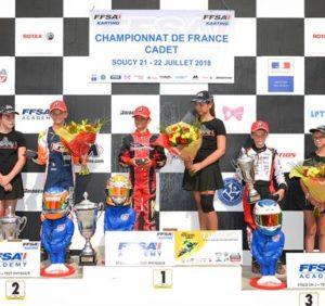 CHAMPIONNATS ET COUPE DE FRANCE KARTING – SOUCY 21 & 22 JUILLET – Caranta, Nael et Tanic récompensés à Sens