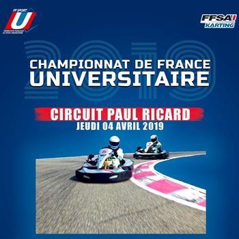 CHAMPIONNAT DE FRANCE UNIVERSITAIRE – PAUL RICARD – 4 AVRIL 2019