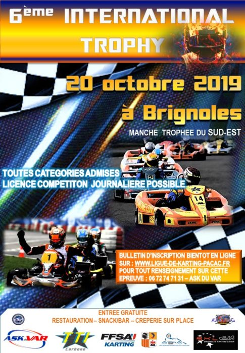 6ème International Trophy à Brignoles le 20 octobre 2019
