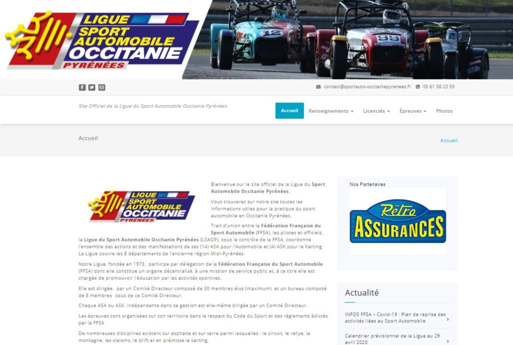 Site officiel de la Ligue du Sport Automobile Occitanie Pyrénées