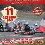Troisième épreuve du Trophée UFOLEP Nouvelle Aquitaine 2020 sur le circuit de Layrac (47) le 11 octobre 2020