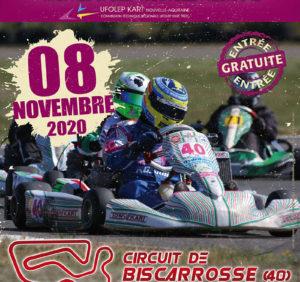 Quatrième épreuve du Trophée UFOLEP Nouvelle Aquitaine 2020 sur le circuit de Biscarrosse (40) le 8 novembre 2020