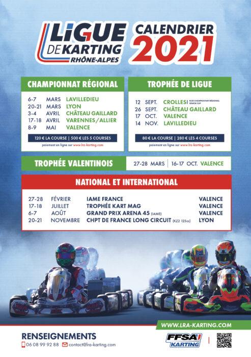 Calendrier Karting Rhône-Alpes 2021